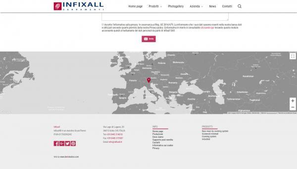 Mappa google completamente customizzata sullo stile del sito